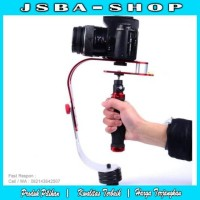 Handheld Stabilizer Kamera DSLR For GoPro Xiaomi Yi Hitam dan Merah
