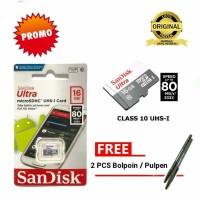 Kartu Memori Hp memory card micro sd 16 gb SanDisk Class 10