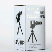 Universal Tele Zoom Lensa 8x Dengan Tripod Portable untuk Hp S Diskon