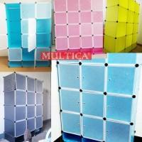 Promo Multica Lemari Baju Dandelion Motif Tempat Rak Baju Buku Sepatu