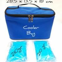Cooler Bag avia Biru Free 2 Blue ice gel / Tas Penyimpanan Asi