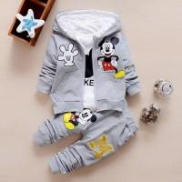 Baju Pakaian Fashion Anak Bayi Laki Laki Perempuan Kemeja Jaket Mickey