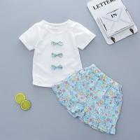 Baju Pakaian Fashion Anak Bayi Cewek Perempuan Setelan Kaos Pita