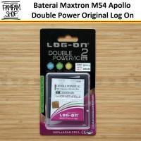 Baterai Log On Double Power Original Maxtron M54 Apollo Batre Apolo