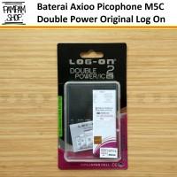 Baterai Log On Double Power Original Axioo Picophone M5C Batre Batrai