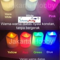 Lilin Electric 7 warna/ Colorful LED Candle (lampu) jakarta hobby