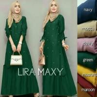 jual baju gamis murah/lira maxi dress muslim modern/grosir baju hijab