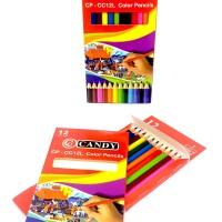 Pensil warna 12 colour panjang murah