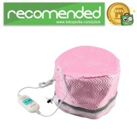 Hot Steamer SPA Rambut Thermal Treatment Heated Cap - Pink