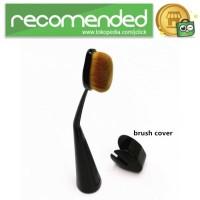 Kuas Make Up Oval Brush Powder Concealer Foundation - Hitam