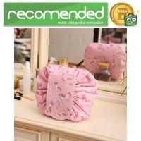 Tas Kosmetik Travel Pouch Drawstring Unicorn - Pink