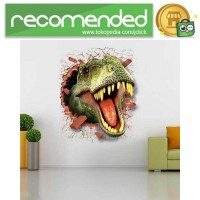 Sticker Wallpaper Dinding Dinosaurus - Hijau