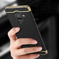 3 in 1 Case Samsung Galaxy A6 A6+ Plus A6Plus 2018 Back Cover Casing