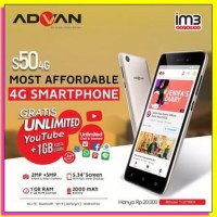 HP MURAH Advan S50 4G LTE - Ram 1/8 - Garansi Resmi