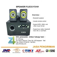 Speaker Fleco Kabel Aux Bluetooth Flashdisk Micro SD F2101 Denpasar
