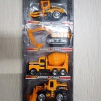 Mainan Mobil Mobilan Model Cars Die Cast Super Power Warna Oren TH735