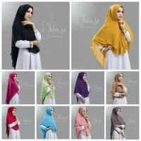 New hijab instan khimar bergo jilbab kerudung syari two layer dhanisa