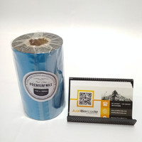 RIBBON BARCODE 110 X 300 METER PREMIUM WAX PRINTER ZEBRA - TSC- POSTEK