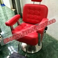 kursi barber import, kursi barber new merah baru