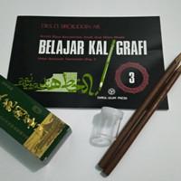 Panduan buku kaligrafi paket alat tulis