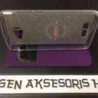 TERBARU Flip Cover Andromax A Leather Case Smartfren 4G Sarung HP