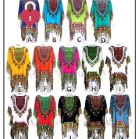 Harga baju etnik dashiki long ponco motif 2   antitipu.com