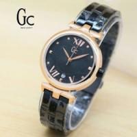 Jam Tangan Wanita Guess Collection GC Black gold Kw Sup Barang Oke