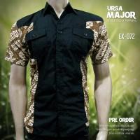 SERAGAM BATIK | EX-072 | Batik Kerja | Batik Kombinasi Simple Elegan