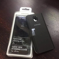 Clear View Standing High Copy Cover Samsung J3 Pro Dan J5 Pro