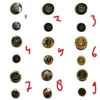 Jual Murah Kancing Baju Jas / Safari model logo perak dan emas 21mm