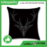 Sarung Bantal Kursi 45 x 45 CM Model Deer Head