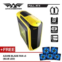 Zetatron T9X Full ATX Gaming PC Chassis Free Fan (x5) By Armaggeddon