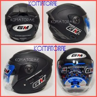 HELM GM INTERCEPTOR BLACK DOFF DOUBLE VISOR Stock Terbatas