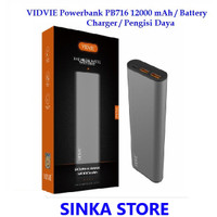 VIDVIE Powerbank PB716 12000 mAh / Battery Charger / Pengisi Daya