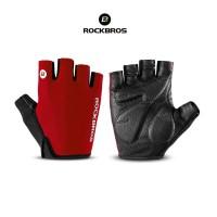 ROCKBROS S106 Bike Glove Half Finger - Sarung Tangan Sepeda RED