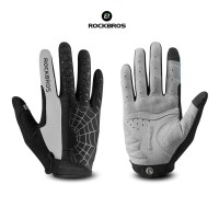 ROCKBROS S109-1 Bike Glove Full Finger - Sarung Tangan Sepeda GRAY