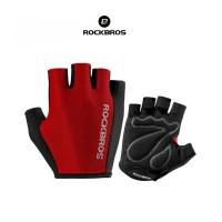 Jual ROCKBROS S099 Bike Glove half Finger - Sarung Tangan Sepeda RED Murah