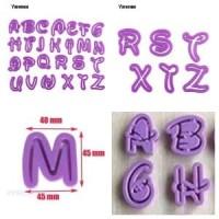Cetakan kue fondant ABC alphabet 26 pcs huruf disney alpabet c Diskon