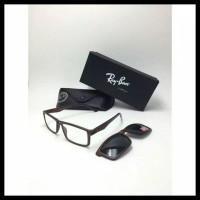 New Produk Kacamata Frame Minus Sunglass Murah Rayban Clip On Hitam