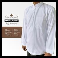 New Produk New! Baju Koko Resleting Pria Muslim Putih Polos Dewasa