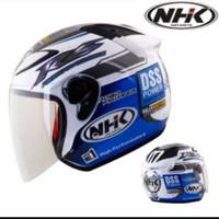 Helm Helmet NHK Rally Relly Biru Putih Blue White silahkan diorder