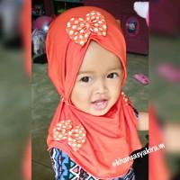 Harga jilbab kerudung calista pita polka 3 anak dan | WIKIPRICE INDONESIA
