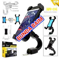 HOLDER MOTOR ARM UNIVERSAL HM06 / HOLDER SPION M001 / HOLDER HANDPHONE