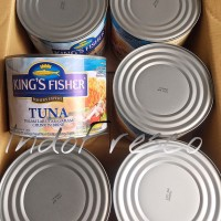 King's Fisher Tuna in Brine- Tuna Kaleng 1800g- 1Dus KHUSUS GOSEND