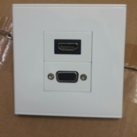 faceplate soket outlet stop kontak panel HDMI VGA