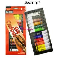 V-Tec Artist Series Oil Colours set 12x12ml / Cat Minyak Vtec Set 12