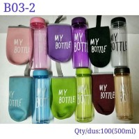 [NEW POUCH] MY BOTTLE CLEAR SARUNG WARNA-WARNI