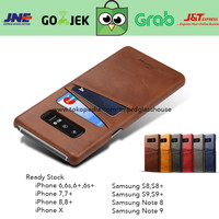 Leather Case Card Slot Holder Casing Kulit Samsung Galaxy Note 8 Hard