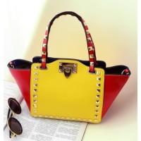 tas kuning yellow kulit tangan selempang 1set clutch jinjing wanita pu