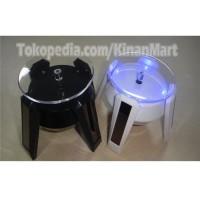 solar stand rotary display 4 Led pajangan putar die cast aksesoris jam